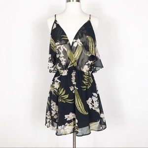 Tobi Floral Cold Shoulder Dress - Small